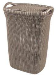 Bruine Curver knit wasmand - 57 liter - harvest brown