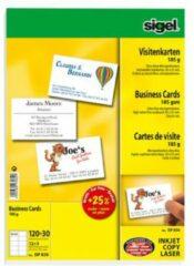 Sigel DP830 Bedrukbare visitekaarten 85 x 55 mm Helderwit 150 stuk(s) Papierformaat: DIN A4