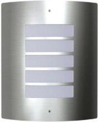 Zilveren DCM VidaXL - Lantaarn Buitenlamp RVS Falerna 40369