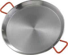 Zilveren Paella pan, Plaatstaal, 50cm - Garcima | Valenciana