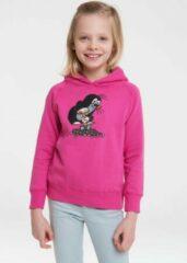 Roze Logoshirt Sweater met capuchon