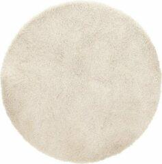 Creme witte Kokoon Vloerkleed POAL Ø 160 CM Crème