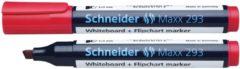 Boardmarker Schneider Maxx 293 beitelpunt 2-5 mm rood S-129302