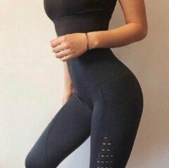 Go Go Gadget Yoga Broek - Zwart - Naadloos - Hoge Taille - Legging - Fitness - Maat L