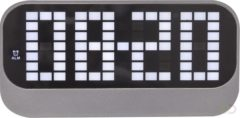 Zwarte NeXtime Loud Alarm - Wekker / Tafelklok - LED - Super Hard Alarm - ABS - 17.5x8.5x5 cm - Zwart