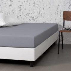 Witte Fresh & cold Comfort Hoeslaken - Lichtgrijs - 190x200 cm - Jersey Stretch - Fresh & Co