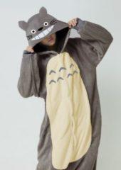 Donkergrijze KIMU Onesies KIMU Onesie Totoro kinder pak - maat 146-152 - kigurumi muis kostuum grijs Totoropak jumpsuit pyjama festival