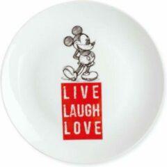 Disney Egan Gebaksbordje Mickey Mouse Live Laugh Love Rood 19cm