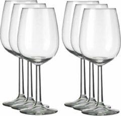 Transparante Merkloos / Sans marque 6x Luxe wijnglazen voor witte wijn 350 ml Bouquet - 35 cl - Witte wijn glazen - Wijn drinken - Wijnglazen van glas