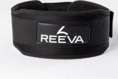 Zwarte Reeva Powerlift Riem 2.0 - Neopreen - Maat XS - Gewichthefriem geschikt voor Crossfit, Powerlifting, Fitness en Bodybuilding - Lifting Belt voor Heren en Dames