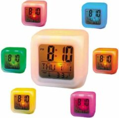 Paarse Unbranded Alarmklok - LED wekker - MoodiCare Clock, CK-20 - wekker - alarm, tijd, datum, dag en temperatuur- 7 kleuren