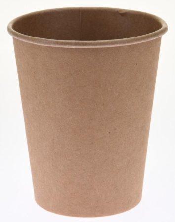 Afbeelding van Bruine Merkloos / Sans marque 30x Duurzame gerecyclede papieren koffiebekers/drinkbekers 250ml - Milieuvriendelijk en biologisch afbreekbaar - wegwerp bekers