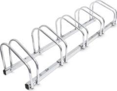 Relaxdays Fahrradständer 5 Fahrräder Stahl 130cm