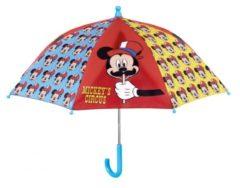 Perletti Paraplu Mickey Mouse 56 X 66 Cm Rood/blauw