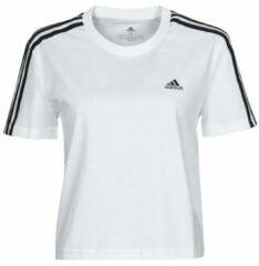 Adidas Ess. Loose Crop Shirt Dames - Vrouwen - Wit - maat: XS