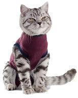 Bordeauxrode Jacketz Medical Body Suit Kat - XXS