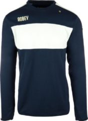 Marineblauwe Robey Sweater - Voetbaltrui - Navy/White Stripe - Maat XL