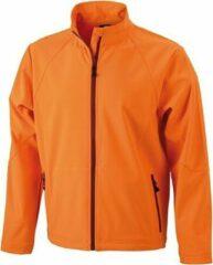James & Nicholson Oranje softshell heren jas XL