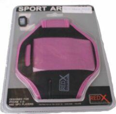 Red-x Iphone 4 Armband Zwart/roze