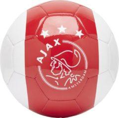 Geen merk / fanartikel Ajax bal groot wit met rode baan en kruizen