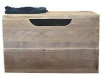 Bruine Wood4you - Speelgoedkist Kick Steigerhout 80Lx50Hx50D cm
