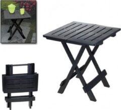 Antraciet-grijze Sleepp Opvouwbare campingtafel - klaptafel - kunststof - 44cm x 44cm