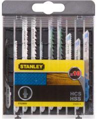 Stanley t-schacht set decoupeerzaagbladen 10 stuks