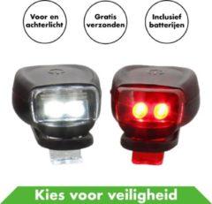 Rode In Round Fietsverlichting Deluxe Set Voor Achter – Fietslicht – Fietslampjes – Fiets Lampjes – Fietslichtjes – Voorlicht – Fiets Lamp – Fietslichten – Voorlicht Batterij – Fietslamp Racefiets – Achterlicht – Koplamp – Achterlamp – Voorlamp – Led – Le