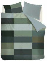 Groene Kardol & Verstraten Kardol Aspiration Dekbedovertrek - Lits-jumeaux (240x200/220 Cm + 2 Slopen) - Katoen Satijn - Green