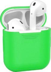 BTH Siliconen Bescherm Hoesje Case Cover voor Apple AirPods Hoes - Groen