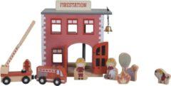 Rode Little Dutch Treinbaan uitbreiding - brandweerkazerne