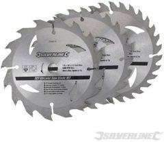 Silverline TCT cirkelzaagblad, 16, 24, 30 tanden, 3 Stuks 160 x 30 - 20, 16 en 10 mm ringen