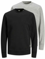 Jack & Jones - Essentials - Set van 2 sweaters in zwart/grijs-Meerkleurig