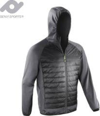 Senvi Sports Gravity Jacket Lichtgewicht (Super-stretch) Kleur Zwart/Grijs Maat L