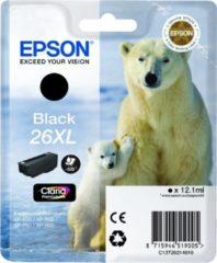 Zwarte Epson 26XL (T2621) - Inktcartrigde / Zwart / Hoge Capaciteit