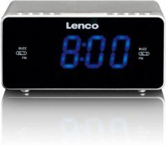 Lenco CR-520 - Wekkerradio met USB-aansluiting en AUX-ingang - Zilver