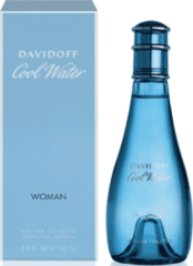 Blauwe Davidoff Cool Water Woman Eau de Toilette (EdT) 100 ml - blau, türkis