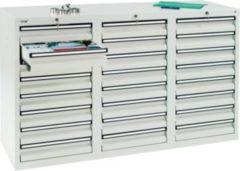 Stumpf Metall Stumpf® STS 410 Schubladenschrank mit 24 Schubladen, lichtgrau - 90 x 150 x 50 cm