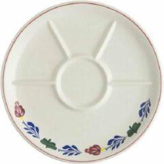 Boerenbont Fondue bord Ø27 cm pak van 4 stuks aardewerk