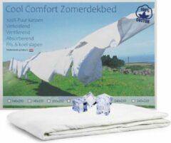 Witte Cool Comfort Zomer Dekbed | 100% Puur Katoen | Verkoelend Zomerdekbed | Ventilerend & Absorberend | Fris & Koel Slapen | 140x220 cm