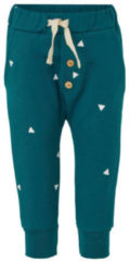 Little Indians baby broek met all over print petrol blauw