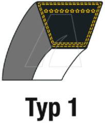 John Deere Keilriemen:V (A96 13x2488 la) für Rasenmäher