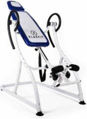 Blauwe Klarfit Relax Zone Pro Inversiebank Rugtrainer Rug Hang-up tot 150 kg