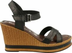 Tamaris Sandaal Dames Trend Wedge Binnenzool Touch It - Zwart | 37