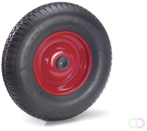 Afbeelding van Fetra PU-geschuimd wiel 400 x 100 mm, Stalen velg - rood - blokprofiel