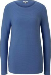 Blauwe TOM TAILOR Gebreide trui met ronde hals, Soft Charming Blue, XS