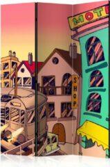 Kamerscherm - Scheidingswand - Vouwscherm - Morning in a city [Room Dividers] 135x172 - Artgeist Vouwscherm
