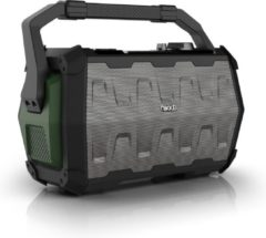 Groene Nikkei SPEAKERBOXX100 Party Speaker 10 Watt met FM Radio, Bluetooth, Microfoon, Micro SD, Aux-in en USB ingang