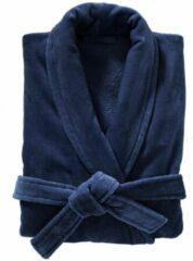 HEMA Badjas Velours Donkerblauw (donkerblauw)