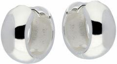 Best Basics Zilveren Klapcreolen Ronde buis 8 mm. Buitenmaat 16 mm 107.0105.16